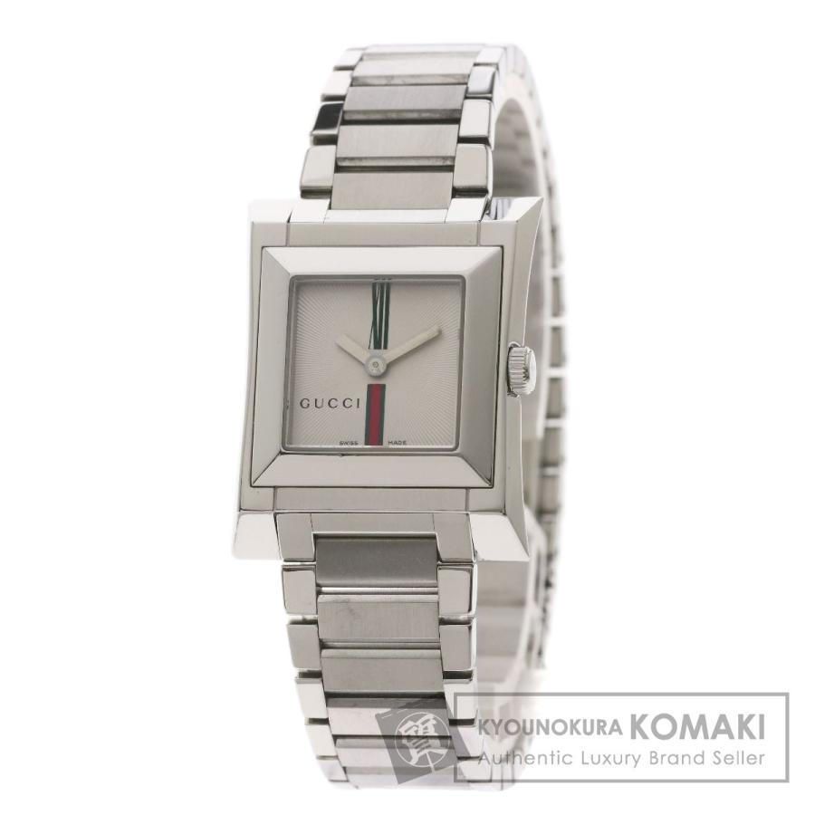 独特な店 GUCCI グッチ 111L スクエア 腕時計 ステンレススチール/SS レディース, Cover all 0a32665f