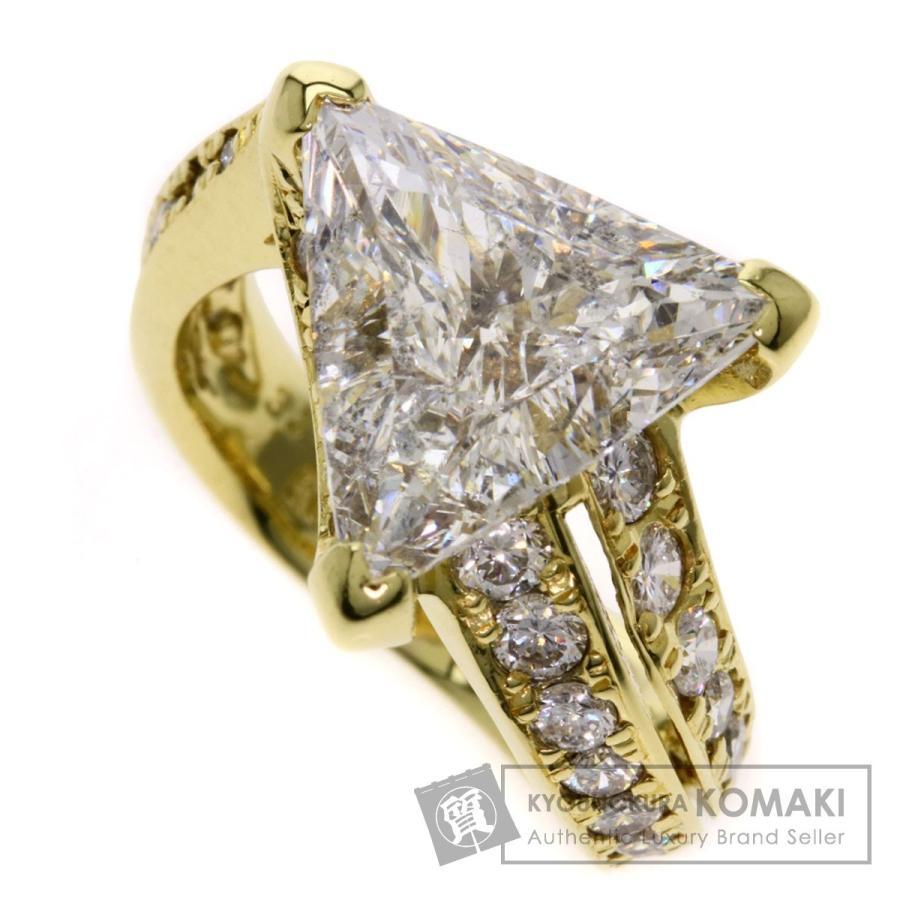 豪華 ジュエリー ダイヤモンド トリリアントカット リング・指輪 K18イエローゴールド, 矢巾町 a1d15492