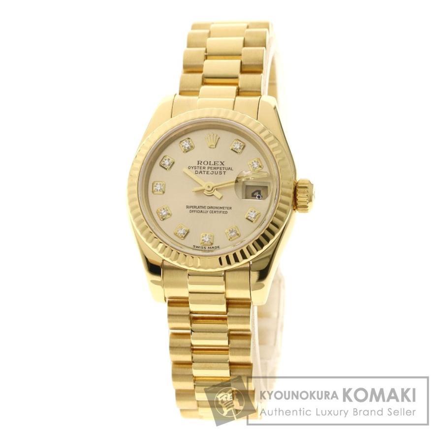 殿堂 ROLEX ロレックス レディース 179178G デイトジャスト 10Pダイヤモンド 腕時計 K18イエローゴールド ロレックス/K18YG ROLEX レディース, ルコリエ:cd4f0fe8 --- persianlanguageservices.com