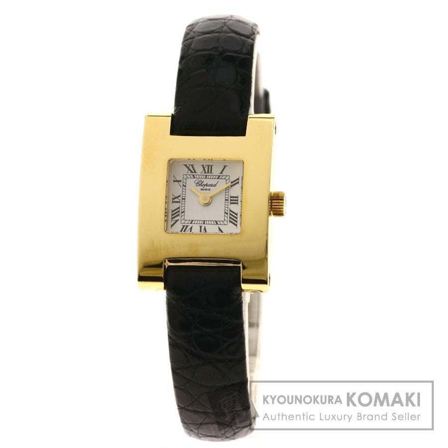 高級感 Chopard ショパール 12 7429 クラシック ユアアワー 腕時計 K18 イエローゴールド 革 レディース, アナブキチョウ 161728b2