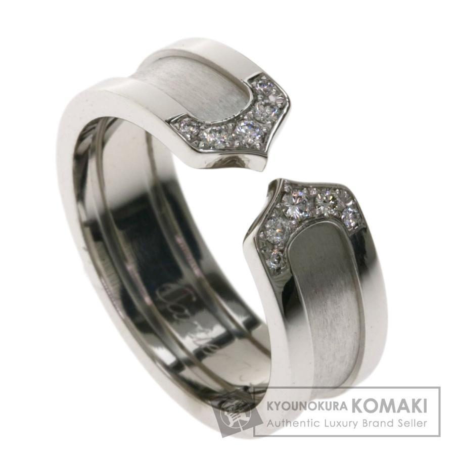 【お1人様1点限り】 CARTIER カルティエ C2リング ダイヤモンド #52 リング・指輪K18ホワイトゴールド レディース, COCO封筒屋 b7d5a798