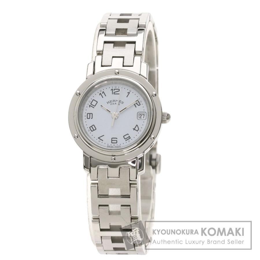 【日本産】 HERMES エルメス CL4.210 クリッパー 腕時計 ステンレススチール SS レディース, CQオーム 2ae14754