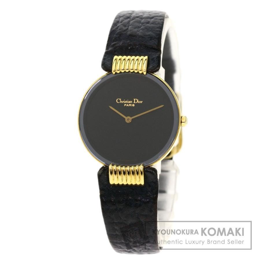 値段が激安 CHRISTIAN DIOR クリスチャンディオール 46.153 バギラ 腕時計 GP 革 レディース, R&Bstore 1d6603d0