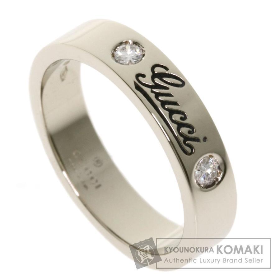 新素材新作 GUCCI グッチ アイコンプリント ダイヤモンド #9 リング・指輪 K18ホワイトゴールド レディース, のぼりキング 20c56df8