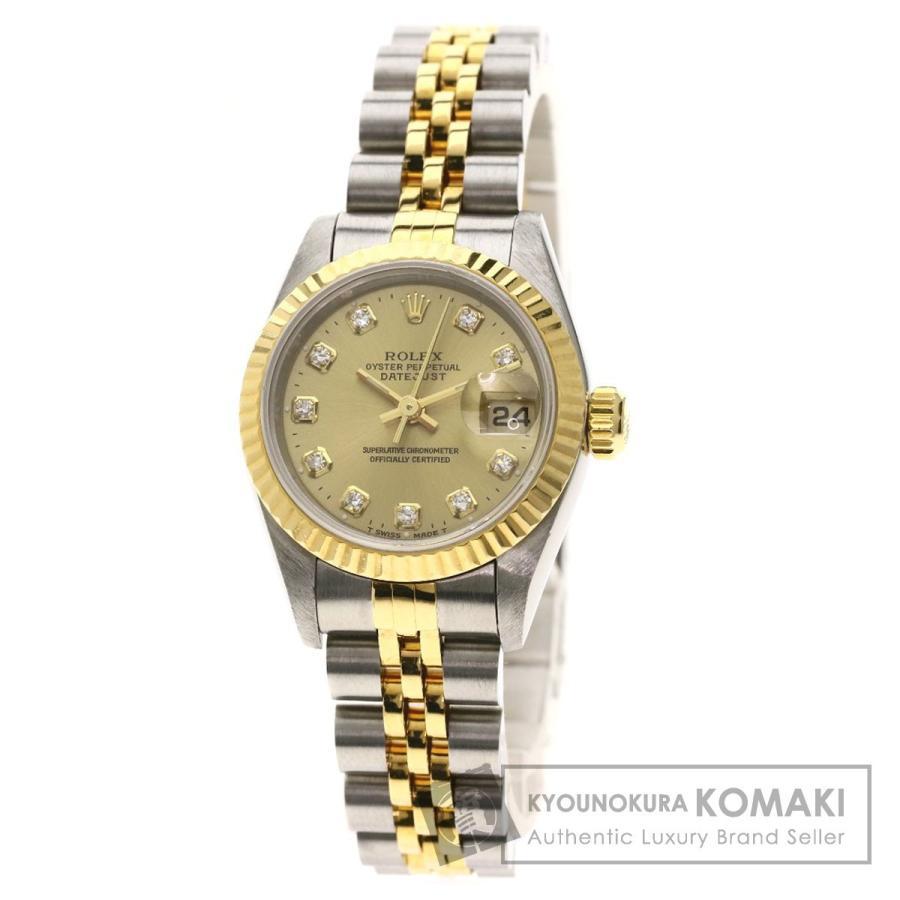 セール 登場から人気沸騰 ROLEX ロレックス 69173G デイトジャスト 10Pダイヤモンド 腕時計 ステンレススチール SS K18 YG レディース, STYLE STORE version.R 008a0eea