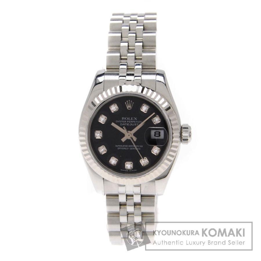 【ファッション通販】 ROLEX【ロレックス】179174G デイトジャスト 腕時計 ステンレススチール レディース 【】, 送料 商店 41570471