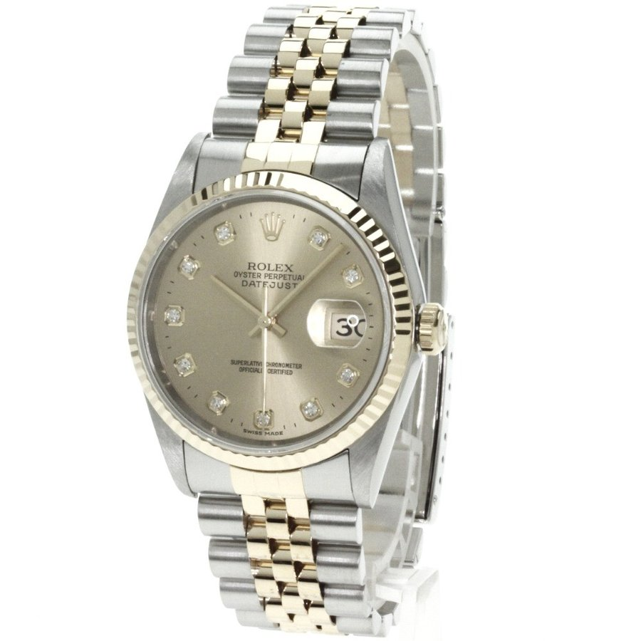 【後払い手数料無料】 ROLEX ロレックス 16233G デイトジャスト 腕時計 K18イエローゴールド SS メンズ, 小倉北区 a87f5c03