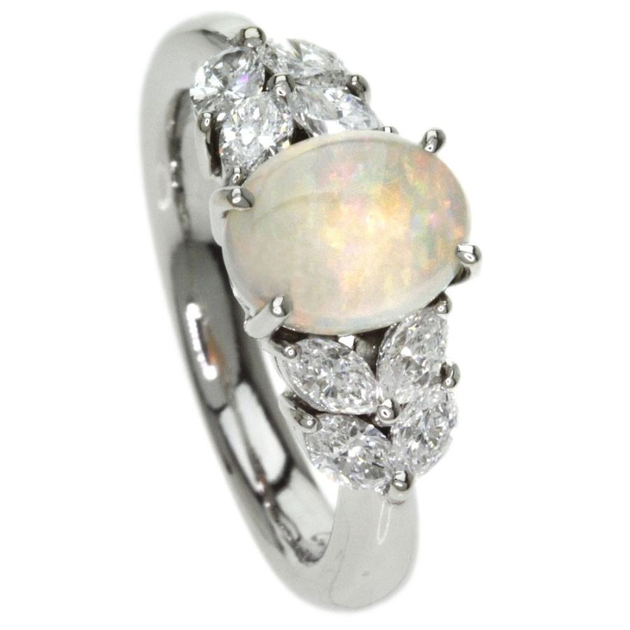 【国際ブランド】 オパール ダイヤモンド リング・指輪 プラチナPT900  SELECT JEWELRY セレクトジュエリー, サンフォニックス 574c3251