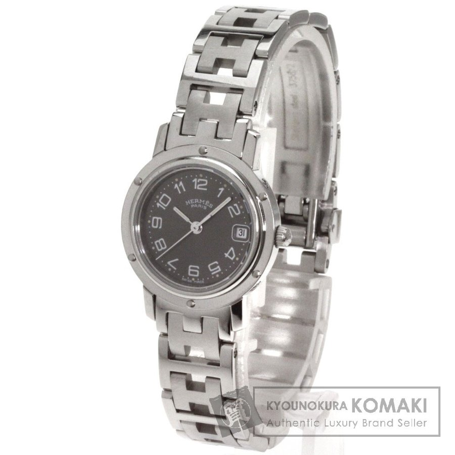 一番人気物 HERMES エルメス CL4.210 クリッパー 腕時計 ステンレス レディース, 村山市 f71591a8