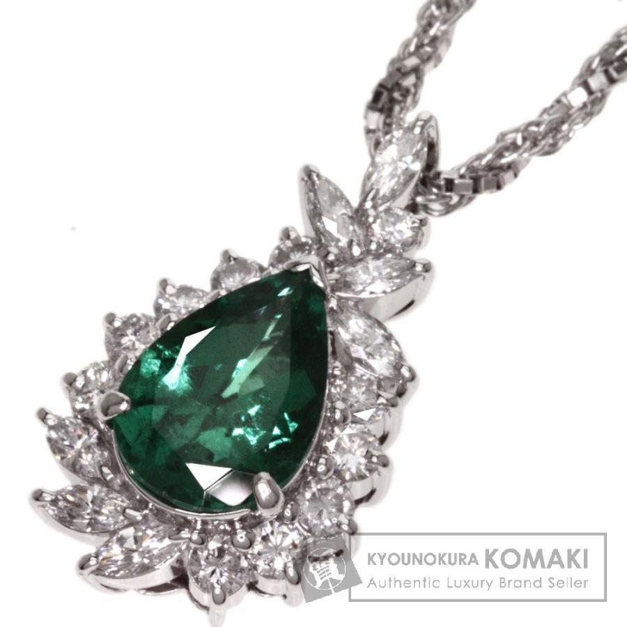 最先端 エメラルド ダイヤモンド ネックレス プラチナPT900 Pt850  SELECT JEWELRY セレクトジュエリー, monolab +design store e58df652