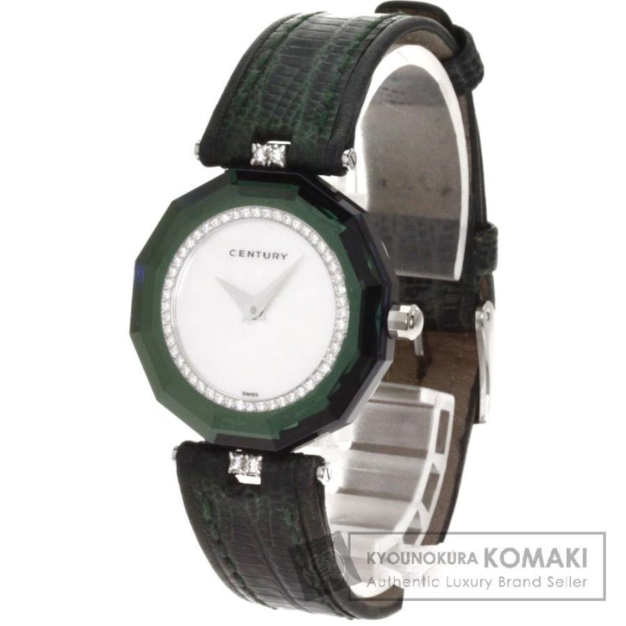 【未使用品】 CENTURY センチュリー CENTURY プライムタイム 腕時計 プラチナPT950 リザード ダイヤモンド リザード レディース, ウラワク:feaf0f83 --- airmodconsu.dominiotemporario.com