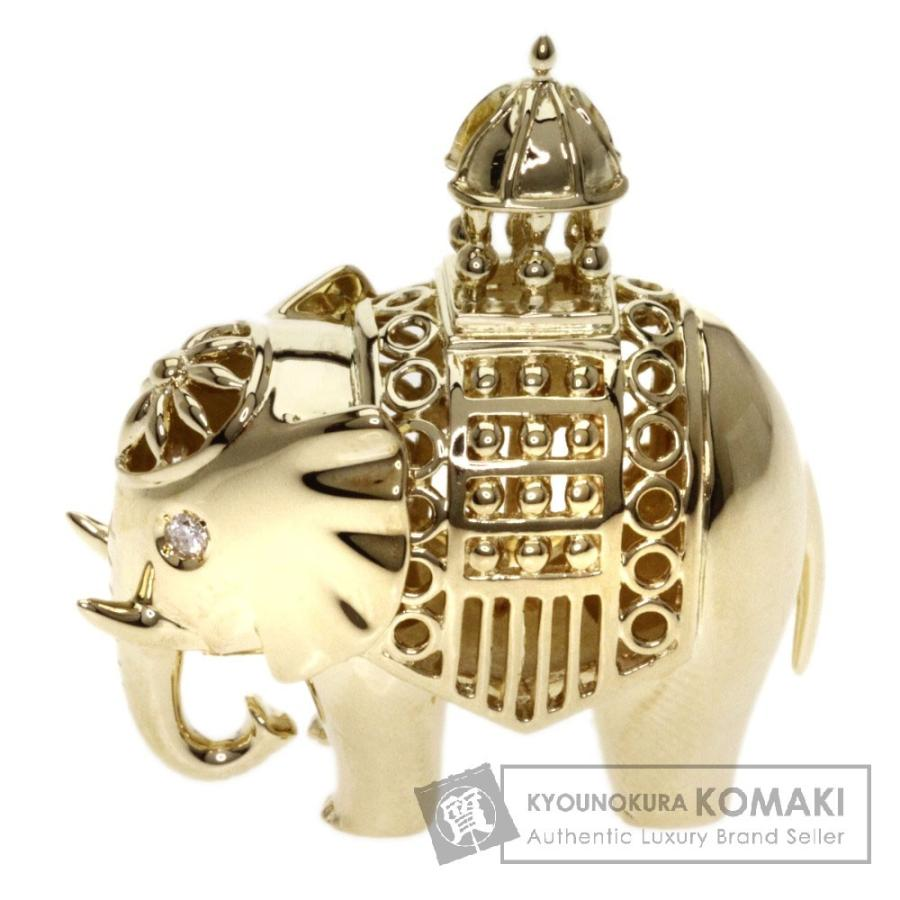有名なブランド MIKIMOTO ミキモト エレファント ダイヤモンド ペンダントトップ K18イエローゴールド レディース, スマホケースグッズのPlus-S bb1558ad