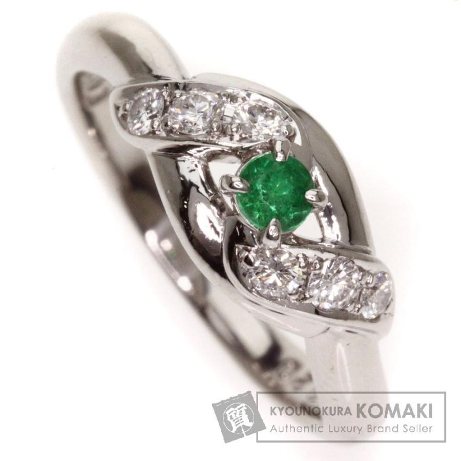 お気に入りの エメラルド ダイヤモンド リング・指輪 プラチナPT900  SELECT JEWELRY セレクトジュエリー, エプロンショップ Qハウス ceaff3a3