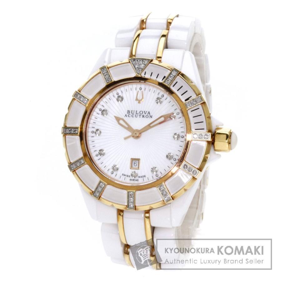 注目の BULOVA ACCUTRON ブローバ・アキュトロン 65R140 腕時計 セラミック レディース, 南秋田郡 a9f17f1a