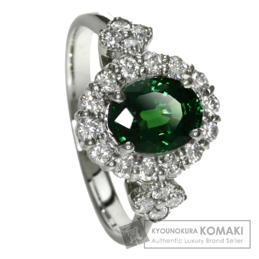 選ぶなら グリーンガーネット ダイヤモンド リング・指輪 プラチナPT900  SELECT JEWELRY セレクトジュエリー, キューレット 93b03d54