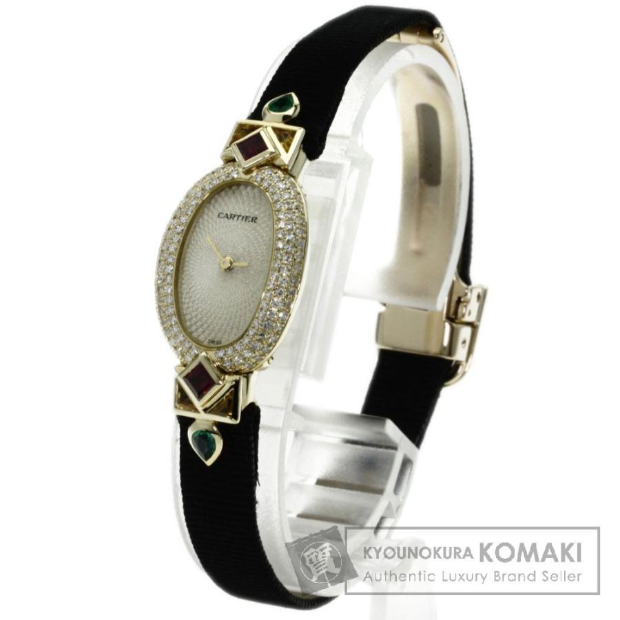 2019最新のスタイル CARTIER カルティエWB503531 ミニベニュワール 腕時計 K18イエローゴールド サテン ダイヤモンド レディース, ふとん館HAPPYHOME b53735ca