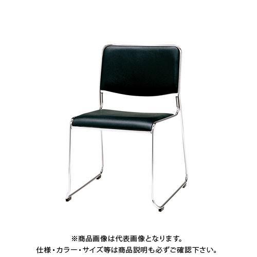 弘益 スタッキングチェア(合成皮革張)ブラック MK-480(BK) MK-480(BK) MK-480(BK) 123