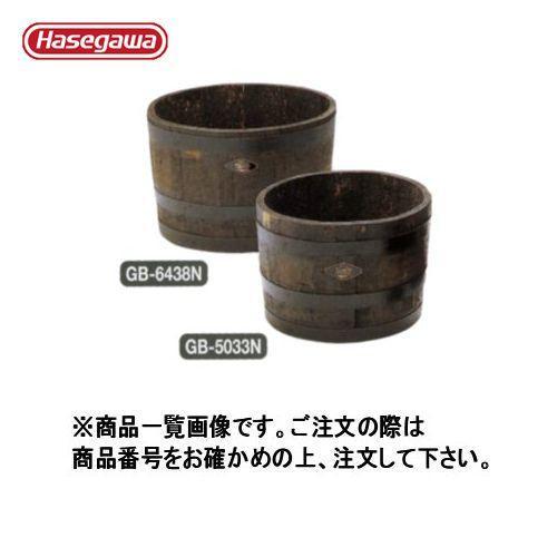 (個別送料1000円)(直送品)ハセガワ 長谷川工業 ウイスキー樽プランター椀型60 ブラック GB-6438 12553