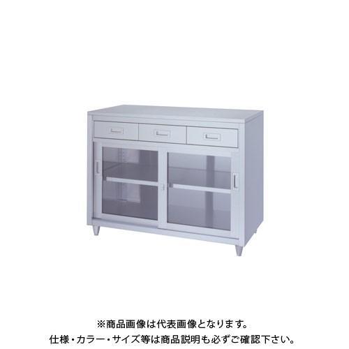 (直送品)(受注生産)シンコー ステンレス保管庫(一段式/引出付) 900×600×950 LADG-9060