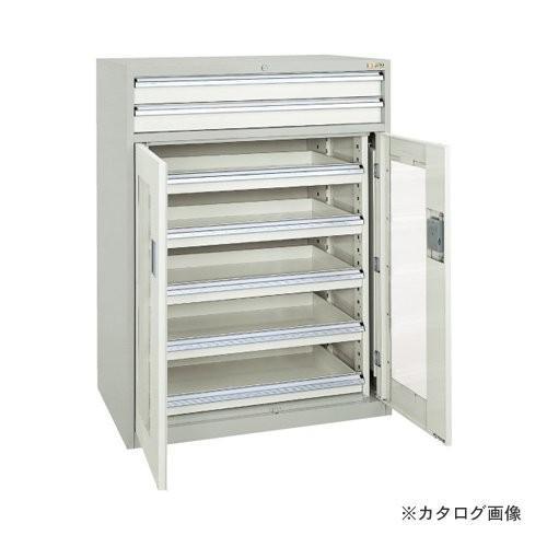 (直送品)サカエ SAKAE キャビネット保管庫・横ケント式(ボールスライドレール) K13-23ABGY