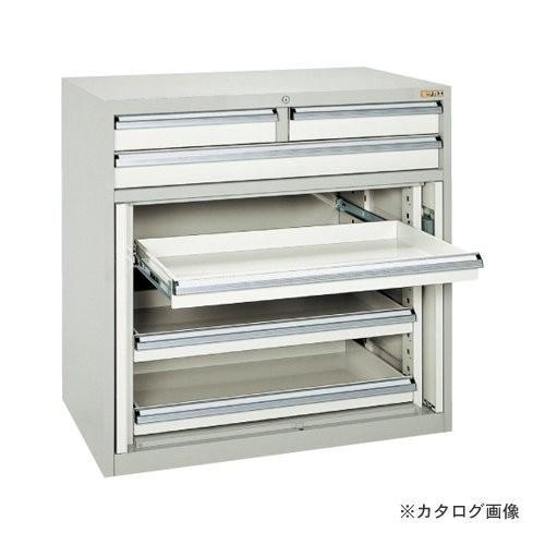 (直送品)サカエ SAKAE キャビネット保管庫・横ケント式(ボールスライドレール) K10-33ABGY