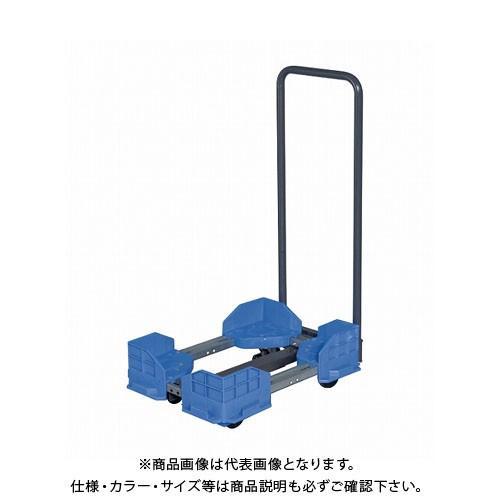 (直送品)サカエ 伸縮式樹脂台車(スタッキング・連結仕様・ゴム車・取手付) SCR-5940RBT