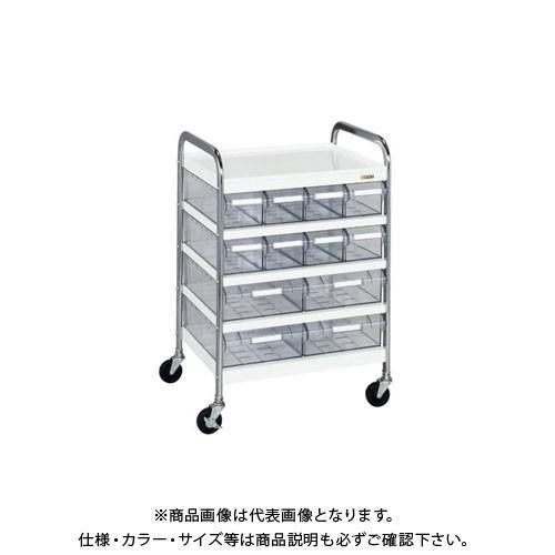 (直送品)サカエ CSワゴン透明ボックス付 CSC-84T