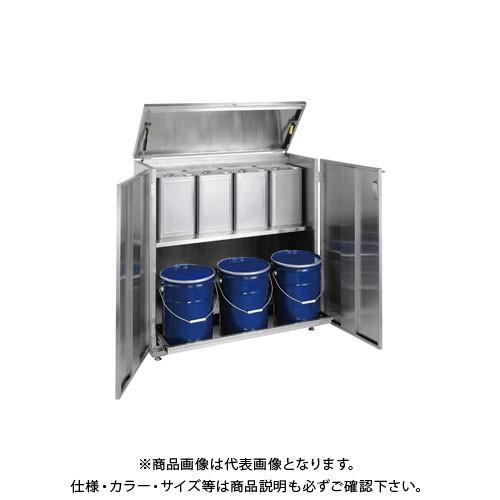 (直送品)サカエ ステンレス 一斗缶保管庫 SU-ITKNB