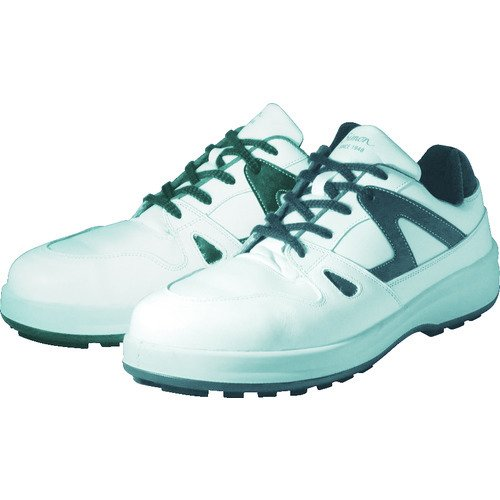 シモン 安全靴 短靴 8611白/ブルー 23.5cm 8611WB-23.5