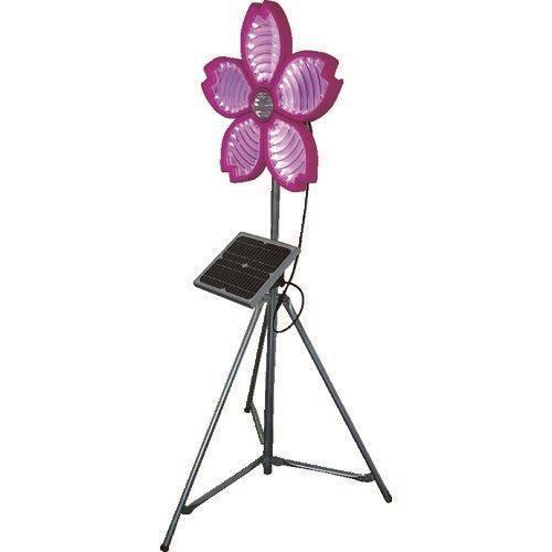 (運賃見積り)(直送品)仙台銘板 桜サークラー ソーラー式大型回転灯 三脚付 電源セット 3050800