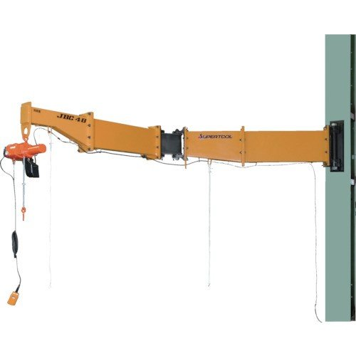 (運賃見積り)(直送品)スーパー 二速電動チェーンブロック付ジブクレーン 溶接型・柱取付式 0.49t アーム2m JBCT4820H
