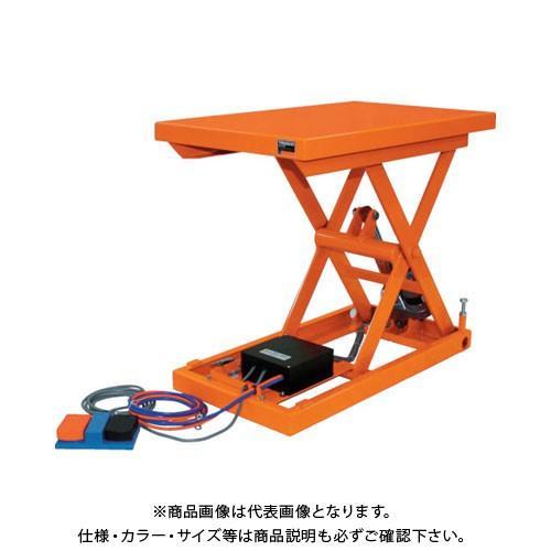(直送品)TRUSCO テーブルリフト100kg 電動Bねじ式 DC24Vバッテリー専用 500×650 HDL-H1056V-D2