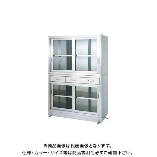 (直送品)(受注生産)シンコー ステンレス保管庫(二段式) 900×450×1750 VDGG-9045