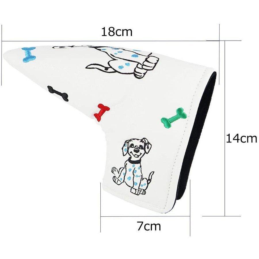 ゴルフヘッドカバー パターカバー スコッティキャメロン オデッセイに適合 ピンタイプ dog|kyuhin999|03