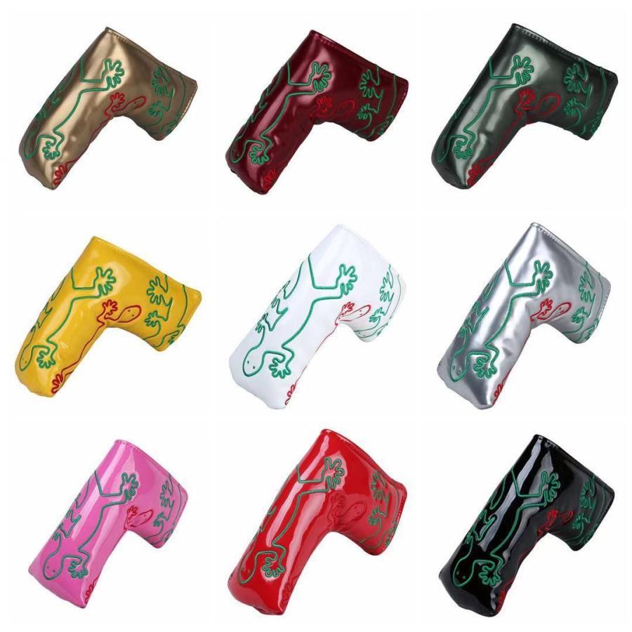 パターカバー ヘッドカバー スコッティーキャメロン オデッセイに適合 磁石タイプ開閉式 ヤモリ刺繍 ピンタイプ kyuhin999