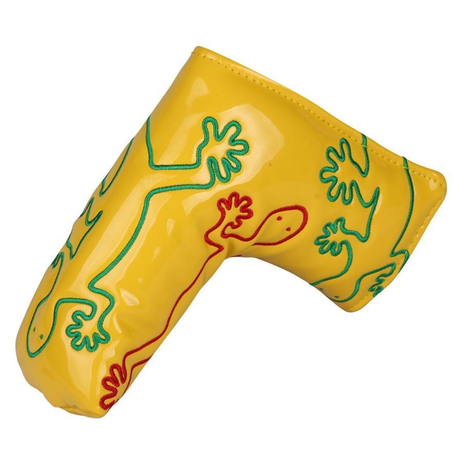 パターカバー ヘッドカバー スコッティーキャメロン オデッセイに適合 磁石タイプ開閉式 ヤモリ刺繍 ピンタイプ kyuhin999 14