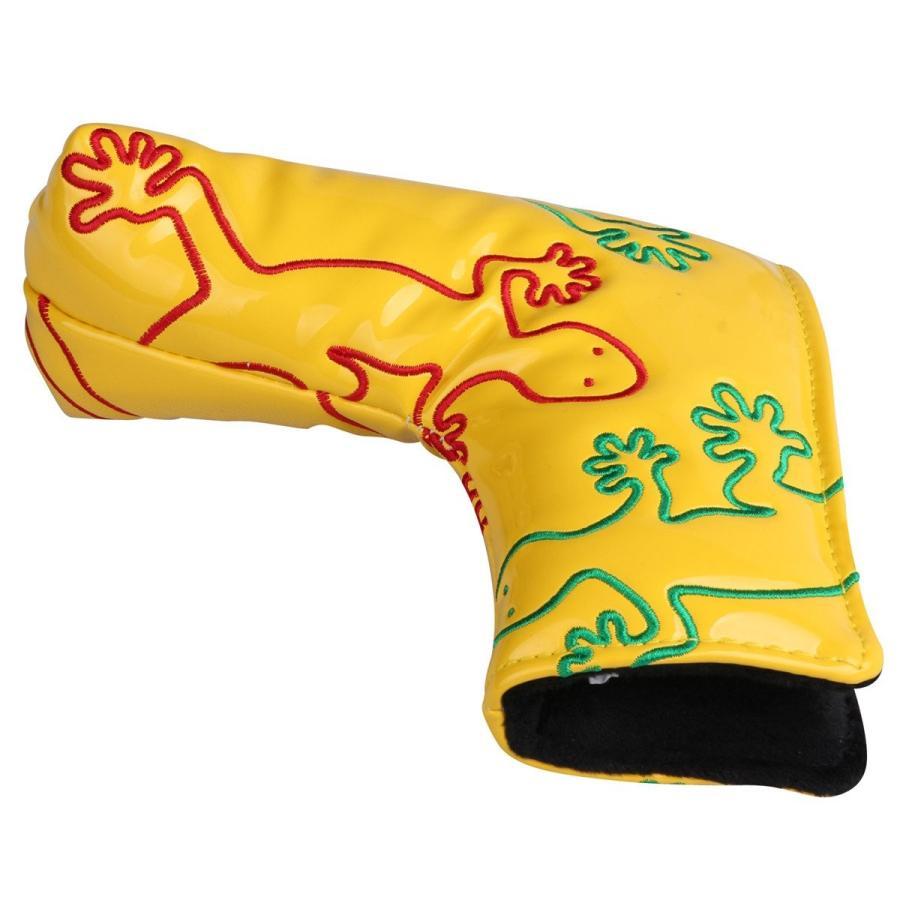 パターカバー ヘッドカバー スコッティーキャメロン オデッセイに適合 磁石タイプ開閉式 ヤモリ刺繍 ピンタイプ kyuhin999 05