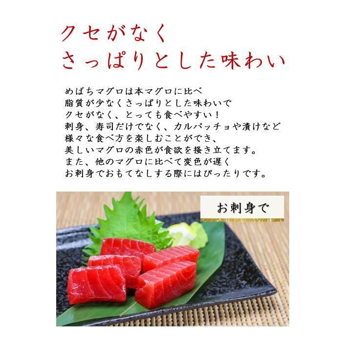 マグロ まぐろ 天然メバチマグロ赤身 サク 1kg kyushumaguro 03