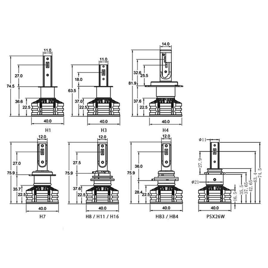LED カラーチェンジ H4 H1 H3 H7 H8 H11 H16 HB3 HB4 PSX26W 信玄 3色|l-c|02