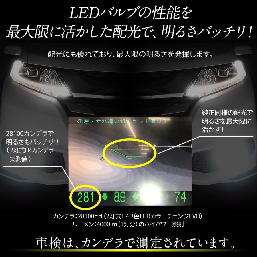 LED カラーチェンジ H4 H1 H3 H7 H8 H11 H16 HB3 HB4 PSX26W 信玄 3色|l-c|06