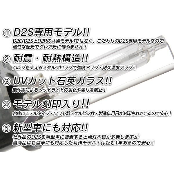 D2S HID 純正交換 HIDバルブ d2s 信玄 1年保証 車検対応 送料無料 l-c 02