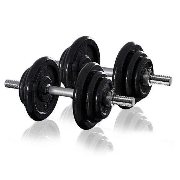 ダンベル 20kg 2個セット アイアンダンベル 2個 セット ダンベルセット 計 40kg 筋トレ トレーニング 送料無料|l-design|02