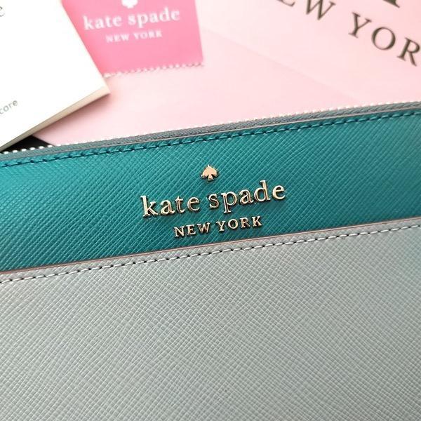 ケイトスペード 財布  長財布 バイカラー グリーン kate spade/WLR00120-345|la-blossoms|02
