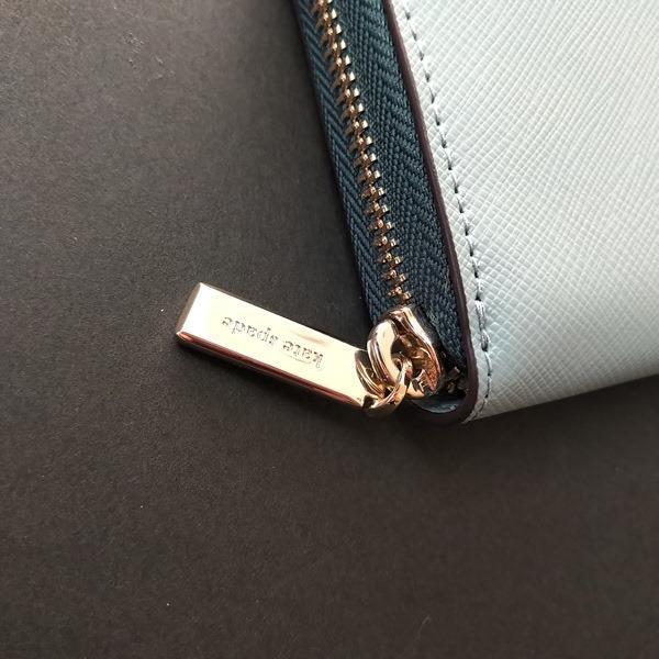 ケイトスペード 財布  長財布 バイカラー グリーン kate spade/WLR00120-345|la-blossoms|03
