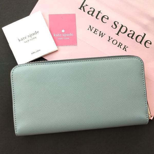 ケイトスペード 財布  長財布 バイカラー グリーン kate spade/WLR00120-345|la-blossoms|04