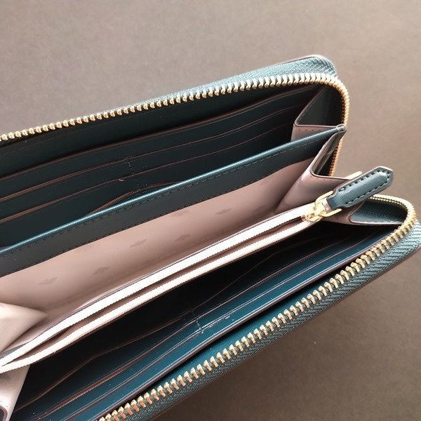 ケイトスペード 財布  長財布 バイカラー グリーン kate spade/WLR00120-345|la-blossoms|05