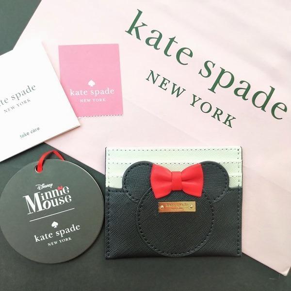 限定品 ケイトスペード ミニーマウス 小物 カードケース kate spade minnie mouse/WLRU6027-974|la-blossoms