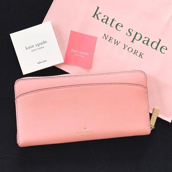 ケイトスペード 財布  長財布 スペード レザー ピンク kate spade/WLRU6029-641 la-blossoms 03