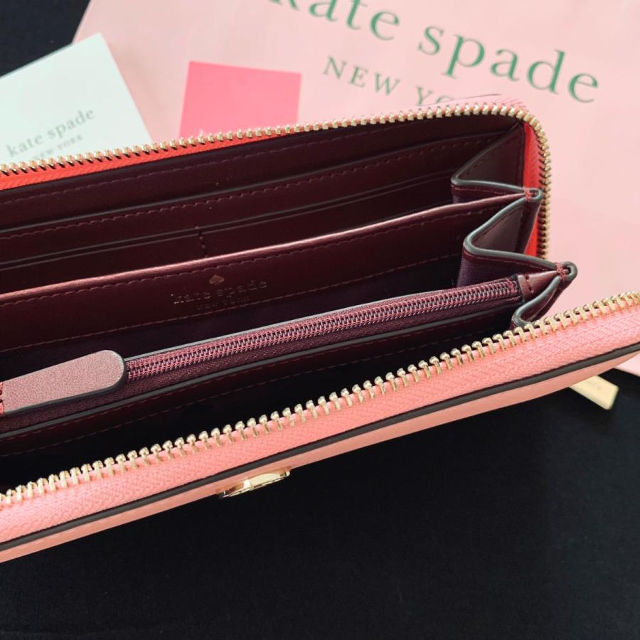 ケイトスペード 財布  長財布 スペード レザー ピンク kate spade/WLRU6029-641 la-blossoms 06