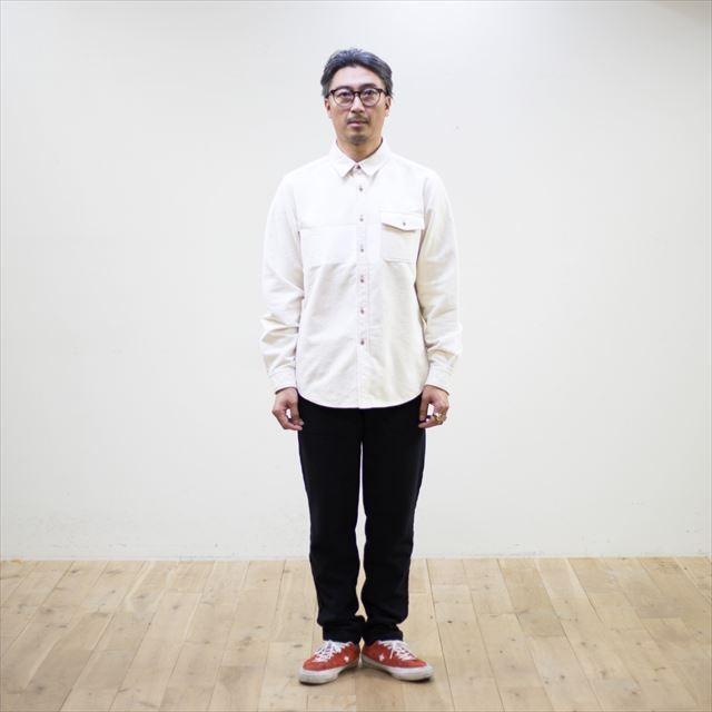 TURN ME ON ターンミーオン /パネルプリント 起毛ネルシャツ(WHITE) Lサイズ la-grande-roue 03